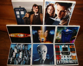 Dr. Who Coasters (set of 4/6/8)