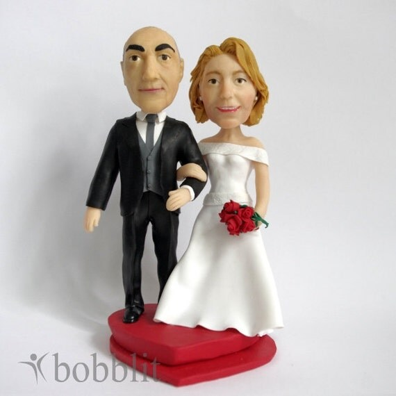 bobblehead wedding cake toppers personalized custom wedding cake topper bobblehead or figurine made by 12068