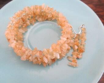 Citrine Chips Bracelet/Earring Set
