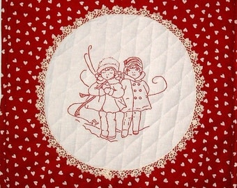 Childhood Sweethearts, an Applique Wall Hanging