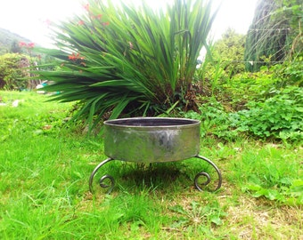 Bespoke Blacksmith Hand Made Fire Pit / Pan Brazier BBQ Barbecue made from recycled Steel. Ideal for Patio Camping, Festivals, Forest School