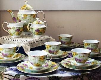 Italian Porcelain Dessert Set
