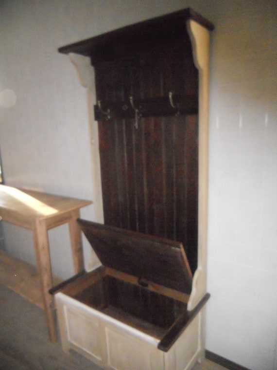 Reclaimed Barn Wood Hall Foyer Entry Coat Rack By Valentinodesigns