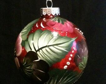 Jumbo Cherry Red Ornament 120mm