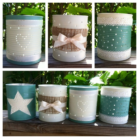 items similar to tin can candle holders made from recycled