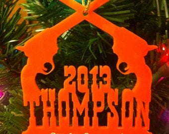 Personalized Custom Acrylic Our First Christmas Ornament Western Pistols Wedding Christmas Ornament