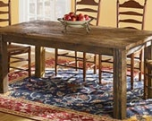 Barn style kitchen table - alabamawoodworks