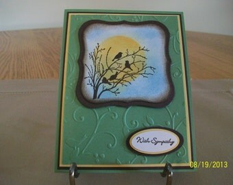 Birds in a Tree Sympathy Card