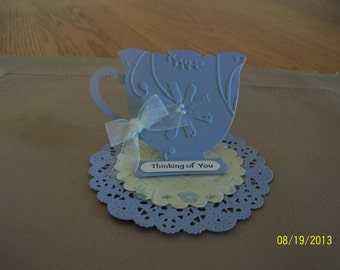 Tea Cup Thinking of You Card