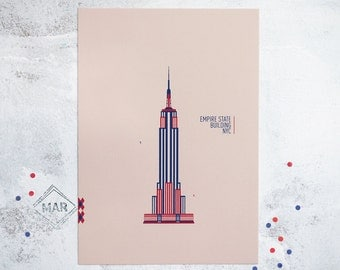A4 Empire State Building, New York City