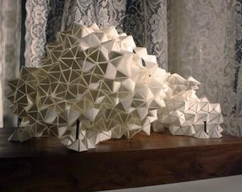 Geometric PVC-Paper and Wood sculpture