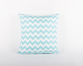 Blue Chevron Scatter Cushion Cover
