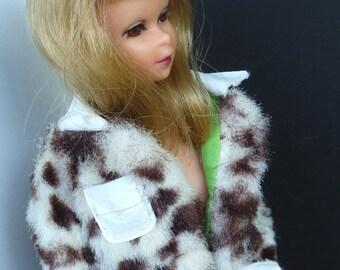 Vintage Francie Clothes #1240 Pony Coat