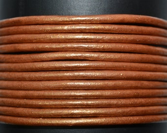 Bronze - 1.5mm Leather Cord per yard