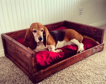 Wood Pet Bed - Dog bed - Cat bed - Pet Bed