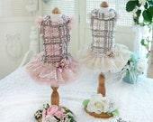 Odette - Designer Handmade dress for Pets / Free Shipping