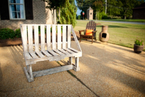 Items Similar To White Washed Bench On Etsy