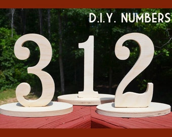 On SALE - wooden table numbers 1-10