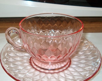 Vintage Fenton Art Glass 21 Piece Set, Diamond Optic Rose (Pink) WAS 90.00 - 20% = 72.00 for All
