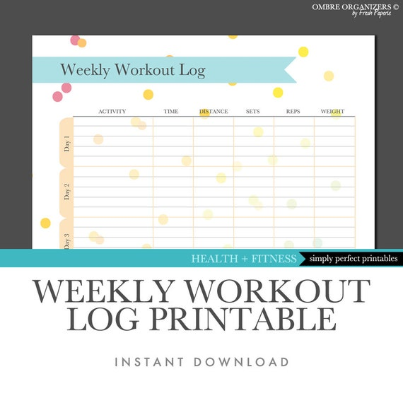 weekly exercise log