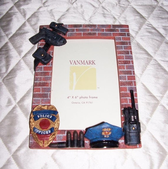 Picture Frame Police Officer Law Enforcement Vanmark Frame 4 X
