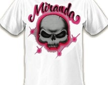 airbrushed t-shirt