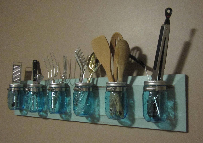 blue ball mason jar organizer On mason jar organizer
