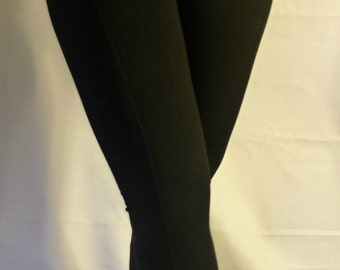 Fleece Lined Leggings - Fleece Lined Leggings w/ Zipper - Fleece Lined Leggings Stretch Knit - High Waist - One Size Fits All