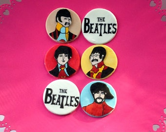 Beatles Yellow Submarine Inspired Gumpaste Cupcake Toppers
