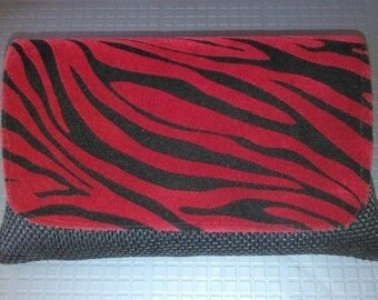 Red and Black African Clutch