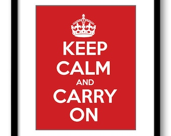 Keep Calm Poster Keep Calm and Carry On White Red Wall Art Print Decor Bathroom Bedroom Stay Calm poster quote inspirational