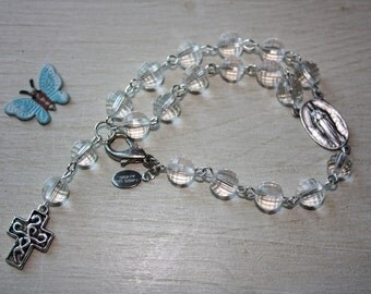 Bracelet dizainier, pearls and metal