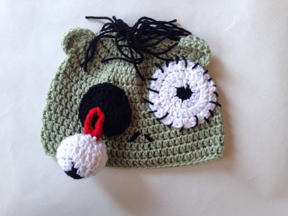 Crochet Zombie Hat by EmilysCozyCreations on Etsy