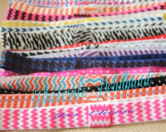 Choose 5 Printed Interchangeable Headbands for baby, kids and adults (FOE)