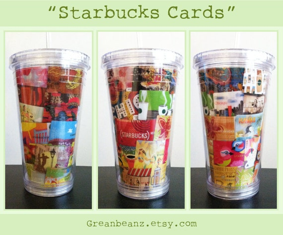 Items similar to starbucks card collage template tumbler cup with items similar to starbucks card collage template tumbler cup with straw on etsy pronofoot35fo Choice Image