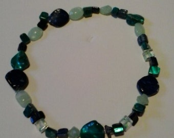 Jagged Cut glass bead necklace