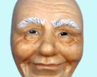 Moldf1 - 2-Inch Santa Face,  by Maureen Carlson. Create Elves, Santas, Gnomes, Trolls and more