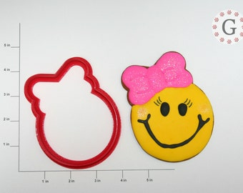 Smiley Face Girl Cookie Cutter-Design by Cookies By Charity