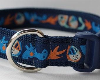 Dragon and Knight Dog Collar/Adjustable/Cute