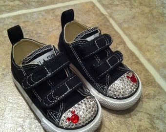 Mickey Mouse Double Velcro Bling Converse