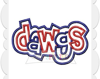 Double Dawgs Applique Embroidery Design