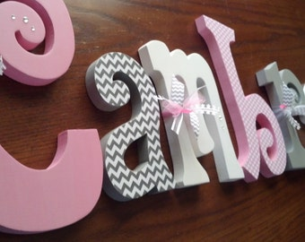 Nursery letters, Nursery wall hanging letters, nursery decor, nursery wall letters
