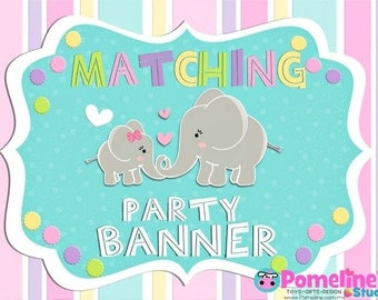 Matching Party Banner!