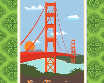 San Francisco Travel Poster Wall Decor (7 print sizes available)