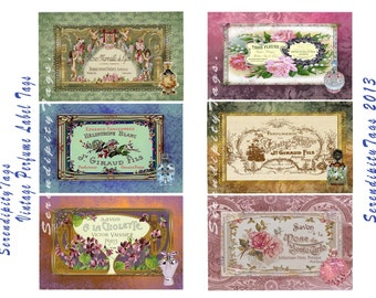 Vintage Perfume Label Tags