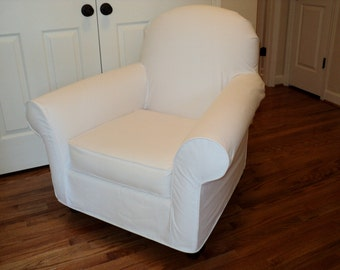Custom slipcover for your PB Dream Rocker (with wooden rockers) from your own fabric
