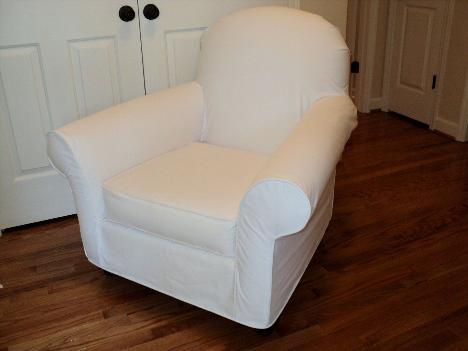 Custom Club Chairs custom slipcover for your pb dream rocker with wooden