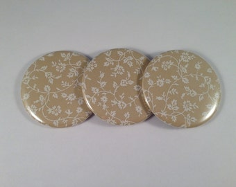 Elegant Floral Pocket Mirrors