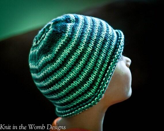 Free Knitting Pattern Baby Rolled Brim Hat : Items similar to Basic Roll Brim Beanie - PDF PATTERN - newborn baby toddler ...