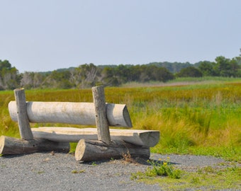 Rustic Bench in Chincoteague VA